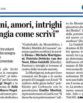 """LA PROVINCIA DI COMO: Passioni, amori, intrighi a """"MANGIA COME SCRIVI"""""""