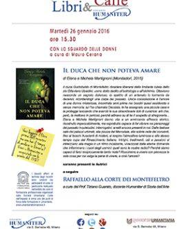 """LIBRI & CAFFÉ – Intervista a Elena e Michela e presentazione<br/>de """"IL DUCA CHE NON POTEVA AMARE"""" il 26 gennaio a Milano"""